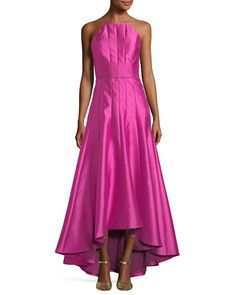 a39504e41418 Shop Paneled Crepe High-Low Gown from Phoebe Couture at Neiman Marcus Last  Call, where you'll save as much as on designer fashions.
