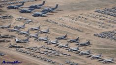 Military Aircraft Graveyard - Davis Monthan Air Force Base - Tucson, AZ - USA