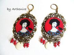Wearable Art with exclusive earrings by DestoilesAuxbijoux on Etsy
