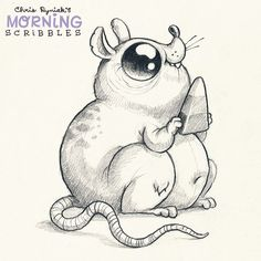 Plump Rat loves Candy Corn!  #morningscribbles #october