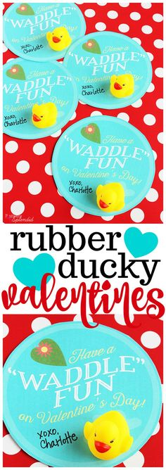day for her Day printables Printable Rubber Duck Valentine Cards for Children - Valentines Day - Valentines . - Printable Rubber Duck Valentine Cards for Children Valentines Day Valentines Day -Valentineamp Valentines Day Baskets, Valentines Day For Boyfriend, Kinder Valentines, Happy Valentines Day Card, Cards For Boyfriend, Valentines Day Party, Valentine Day Crafts, Valentine Cards, Printable Valentine