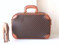Celine Train Case Authentic Vintage handbag Rare by hfvin on Etsy  #celine #traincase #monogram #macadam #travel #vintage #authentic #hfvin