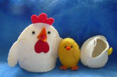 Free Pattern and Tutorial; Which Came First? Hen and Chick | Fruits of Heart