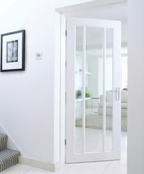 Let light stream in with our primed Worcester glazed door that is strengthened with an engineered core. - August 31 2019 at Internal Glazed Doors, White Internal Doors, White Doors, Primed Doors, Ideas Hogar, Kitchen Doors, Kitchen Cabinetry, Room Doors, Interior Design