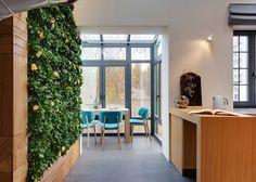 KI Design Studio adds slide and plant wall to Kiev apartment