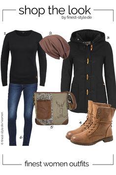 Lässiger Look für Damen mit Einzelteilen von styleBREAKER, DESIRES, Elara,  Domelo und Levis 0a556ee762