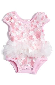 Free shipping and returns on Popatu Tulle Bodysuit (Baby Girls) at Nordstrom.com. Fanciful petal embellishments bloom against the mesh overlay of a comfy short-sleeve bodysuit finished with a ballerina-inspired tulle skirt.
