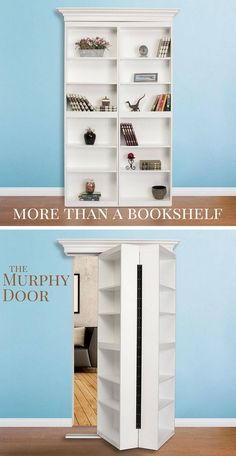 Create the perfect reading nook with the Surface Mount Hidden Door from Murphy Door. It comes with a lifetime warranty on Hardware and Labor. #interiordesign