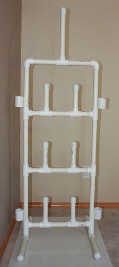 Hockey gear drying rack from PVC