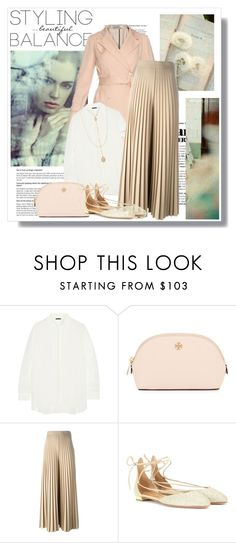 """""""Spring Feelings"""" by lidia-solymosi ❤ liked on Polyvore featuring Nina Ricci, The Row, Tory Burch, Givenchy, Aquazzura, Forever 21, women's clothing, women, female and woman"""