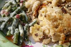 Finnish Macaroni Bake, it is bland, so I added some of our favorite seasonings.