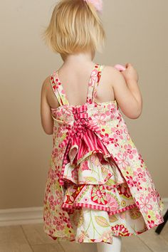 Girl's Dress Sewing Pattern PDF The Lily Dress by Brynnberlee