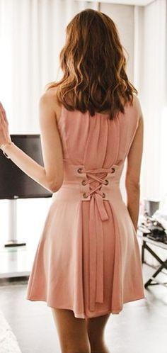 Pink corset dress