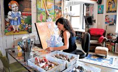 """Dana Ellyn at work.... read the article in The Express """"Artsy Abodes: Live-Work Communities for Artist""""."""