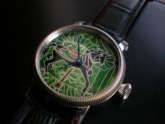 """Carousel horse"" - enamel cloisonne dial. Hand made by Leszek."