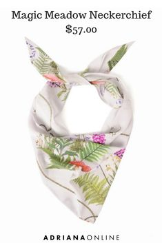 Rockins floral neckerchief will help you give any outfit an extra touch. Neckerchiefs, Floral Fashion, Scarves, Floral Prints, Touch, Outfits, Accessories, Scarfs, Flower Fashion