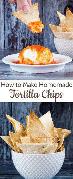 Crispy baked homemade tortilla chips are easy to make from wraps, perfect for your favourite dip and so much more healthy than the packet version!