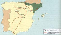 Mapa de la invasión de los 100.000 hijos de San Luís