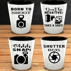 This Funny Photography Shot Glasses are a great gift idea for photographers or people who love photography and shots.   Whatever their favorite drink is - Tequilla, Bourbon, Vodka or something else - these Shot Glasses are sure to please in any party. #PhotographerGifts #FunnyShotGlasses #PhotographyLover  Gift Funny Camera Birthday Gift Christmas Present Photography Quote for Men or Women Quotes About Photography, Love Photography, Funny Shot Glasses, Unique Gifts, Great Gifts, Vinyl Gifts, Photographer Gifts, Glass Material, Gift For Lover