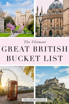 Unmissable United Kingdom Travel Destinations. The Ultimate Great Britain bucket list. London, Cornwall, Scotland and much more. Plus insider tips. Read now #british #unitedkingdom #bucketlist #travel Europe Travel Tips, Travel List, European Travel, Travel To Uk, British Isles Travel, Luxury Travel, Travel Guides, Cool Places To Visit, Places To Travel