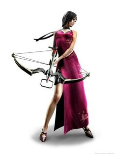Ada Wong with crosbow RE 4 art