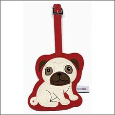 $9.99 - Pug Luggage Tag