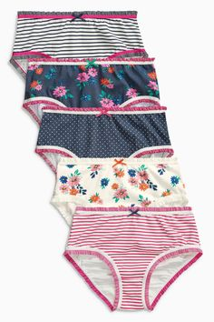39f1479525 Buy Multi Floral Briefs Five Pack (1.5-16yrs) from the Next UK online