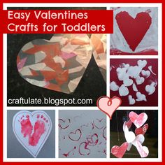 Craftulate: Easy Valentines Crafts for Toddlers