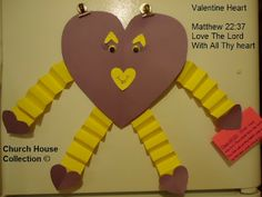 "Valentine Heart Man ""Love The Lord"" ""Matthew 22:37"""
