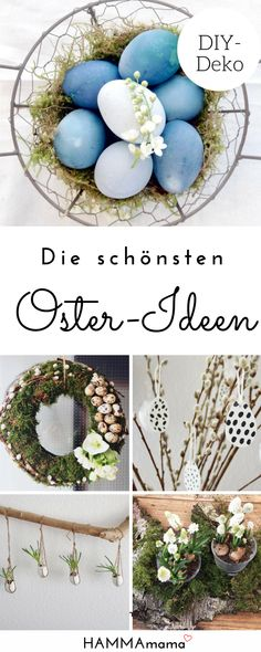 Dekoration für Ostern: Die schönsten DIY-Ideen zum selber machen #ostern #deko #dekoration