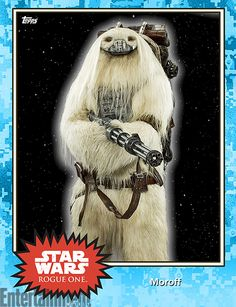 Oct 2016 - Character Name: Moroff -  'Rogue One': New 'Star Wars' images revealed in Topps Trading Cards – exclusive  #StarWars #RogueOne