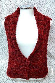 Tricô&Afins: Colete de tricô - super fácil! Knitting Needles, Knitting Patterns, Knitting Ideas, Free Pattern, Beaded Necklace, Accessories, Vests, Hobby, Crotchet