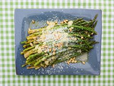 Five-Ingredient Grilled Asparagus with Pecorino and Pine Nuts