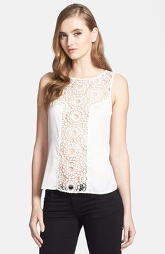 Chelsea28 Crochet Lace Shell available at #Nordstrom