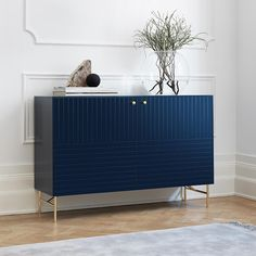 Blue sideboard from our selected furniture collection with fast delivery. Fronts, sides and top in our colour Infinity Blue, intended for the Ikea Bestå frame. Sideboard Decor, Retro Sideboard, Sideboard Cabinet, Credenza, Ikea Furniture, Online Furniture, Furniture Design, Side Board, Home Decor Bedroom