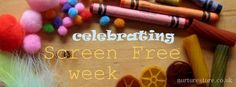 100 Fun Kids Activities for a Screen-Free week.  (Maybe totally screen-free is too much to ask for anyone...but maybe a little less time would be a good thing.)