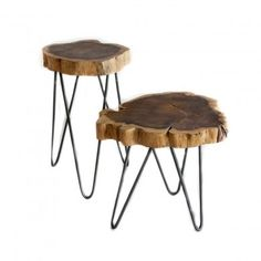 Albion Burl Slice Accent Table