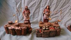 mercado para el belen - Mini Foods, Miniture Things, Decoration, Ideas Para, Cribs, Nativity, Candle Holders, Gift Wrapping, Place Card Holders