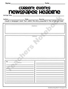 Printables Current Events Worksheet current events classroom teacher and worksheets on pinterest choice board 12 option sheets