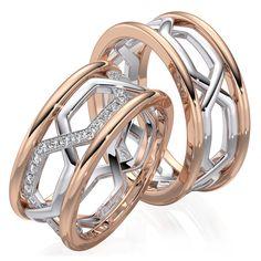 Обручальные кольца ERS2 — Ricchezza — ювелирные изделия