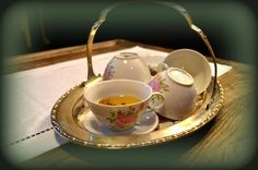 tea cups - my shabby white home