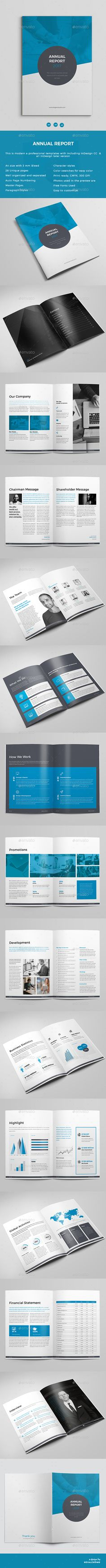 Annual Report  — InDesign Template #informational #a4 • Download ➝ https://graphicriver.net/item/annual-report/18069478?ref=pxcr
