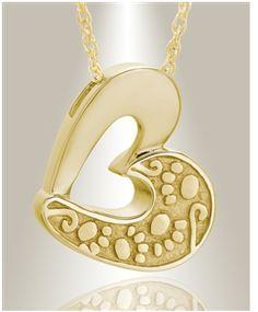 Gold plated Tender Memory pet keepsake pendants and pet keepsake urn jewelry in modern designs