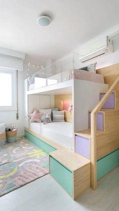 Teen Bedroom Designs, Room Design Bedroom, Small Room Bedroom, Kids Room Design, Home Room Design, Bedroom Ideas, Bedroom Bed, Bed Room, Bed For Girls Room
