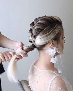 Classy Updo Hairstyles, Easy Hairstyles For Thick Hair, Wedding Hairstyles For Long Hair, Up Hairstyles, Braided Hairstyles, Medium Hair Braids, Braids For Long Hair, Hair Style Vedio, Homemade Hair Treatments