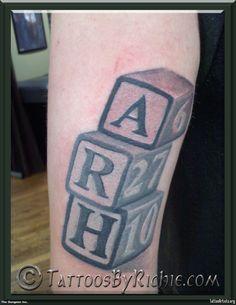 Baby Blocks Tattoo « { Baby Tattoos } - Tattoo Artists.org