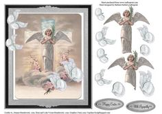 Easter Angel Butterflies Topper Decoupage on Craftsuprint - Add To Basket!