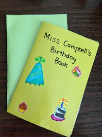 Classroom birthday books are a classroom favorite!