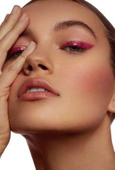 Pink Makeup, Glam Makeup, Pretty Makeup, Colorful Makeup, Beauty Makeup, Hair Makeup, Bridal Makeup, Pink Eye Makeup Looks, Sweet Makeup