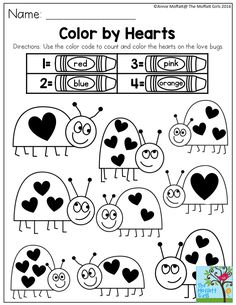 Color by Hearts- SIMPLE activities to build confidence and keep kids having FUN!